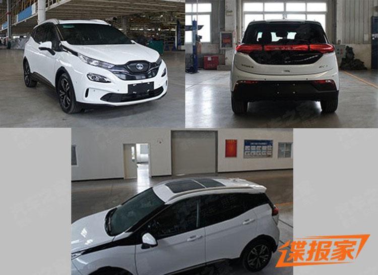 北汽新能源EX3内饰谍照曝光 量产版年内上市销售