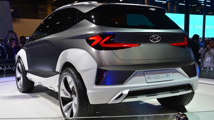 续航里程470km 现代发布全新概念车Saga EV