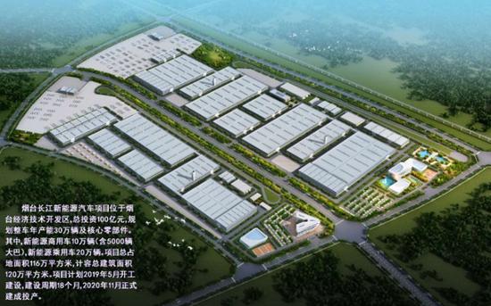 长江汽车百亿新能源整车项目落户山东烟台 计划2020年底投产
