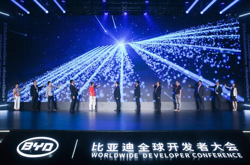2018年,比亚迪举办了汽车发展史上的首次全球开发者大会