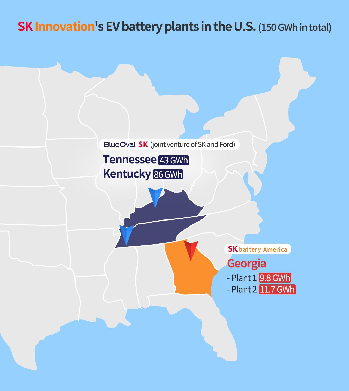 129GWh!福特与SKI将美国合资投建两座动力电池工厂